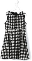 Dolce & Gabbana houndstooth dress - kids - Cotton/Spandex/Elastane - 2 yrs