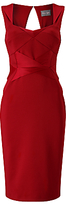 Phase Eight Daniela Satin Dress, Scarlet