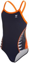 TYR Shark Bite Youth Diamondfit One Piece Swimsuit 8117548