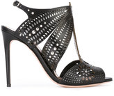 Alexander McQueen laser cut and crystal sandals - women - Leather - 35
