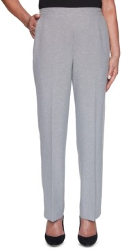 Alfred Dunner Riverside Drive Textured Pull-On Pants