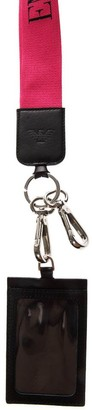 Emporio Armani Keyring And Document Briefcase In Black Leather With Strap