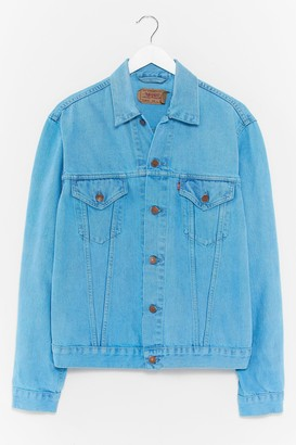 Nasty Gal Womens Vintage Bleach and Every Way Denim Jacket - Green - M/L, Green