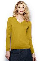 Classic Women's Supima V-neck Sweater-Ivory