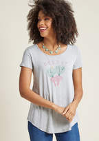 ModCloth En Root Graphic Tee in 1X - Short Sleeve A-line Long
