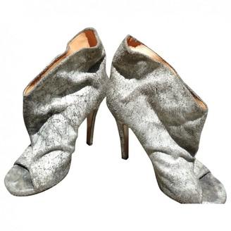 Maison Margiela Grey Leather Ankle boots