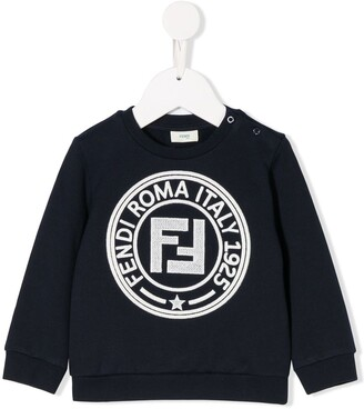 Fendi Kids Logo Stamped Sweatshirt