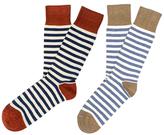 Etiquette Clothiers Abbey Stripes Socks (2 PK)