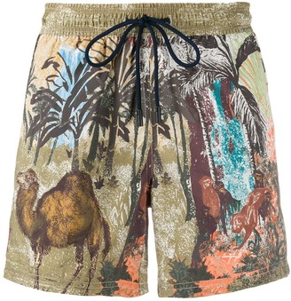 Etro Animals Print Swim Shorts