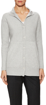 Lafayette 148 New York Ribbed Snap Front Cardigan Coat