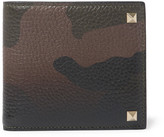 Valentino - Rockstud Camouflage-print Full-grain Leather Billfold Wallet