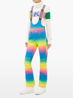 Perfect Moment Isola Gradient Print Salopettes - Womens - Rainbow