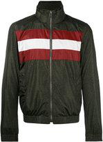 Bally striped panel bomber jacket
