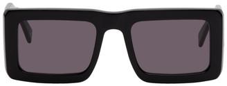Marcelo Burlon County of Milan Black and Green Wings Templo Sunglasses