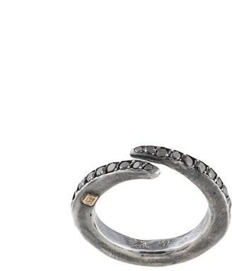 Rosa Maria Bimbi black-diamond pave ring
