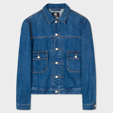 Paul Smith Men's Indigo-Wash Pleat-Front Denim Jacket