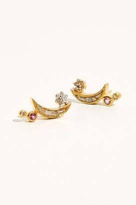 Shana Gulati Raw Diamond Kolar Stud Earrings