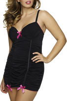 Jezebel Show-Off Ruched Mesh Slip Chemise - Plus
