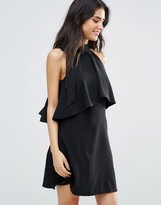 Oh My Love Frill Layer Dress With Bow Neck Detail