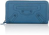Balenciaga Women's Blackout Continental Wallet-BLUE