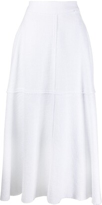 FEDERICA TOSI Textured Distressed Detail Skirt