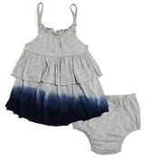 Splendid Girls' Dip Dye Ruffle Dress & Bloomers Set - Baby