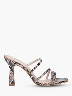 Carvela Goddess Snake Print Stiletto Heel Strappy Sandals, Neutral