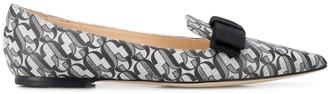Jimmy Choo Gala JC-monogram ballerina shoes