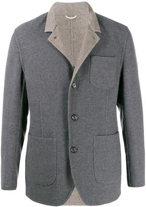 Brunello Cucinelli Single-Breasted High-Neck Jacket
