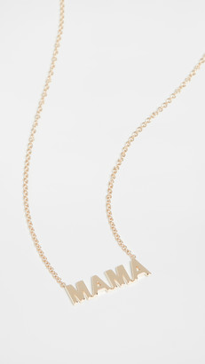 Ef Collection 14k Mini Gold Mama Initial Necklace