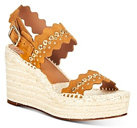 Chloé Women's Lauren Scalloped Espadrille Wedge Sandals