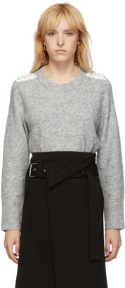 3.1 Phillip Lim Grey Pearl Pullover Sweater