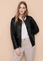 Violeta BY MANGO Zip Leather Jacket
