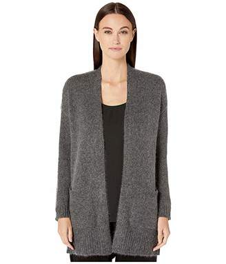 Eileen Fisher Airspun Wool Mohair Shawl Collar Cardigan