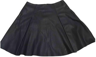 Alannah Hill Blue Leather Skirt for Women