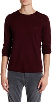 Zadig & Voltaire Jeremy Long Sleeve Genuine Leather Patch Pullover