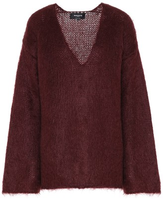 Rochas Oversized mohair-blend sweater