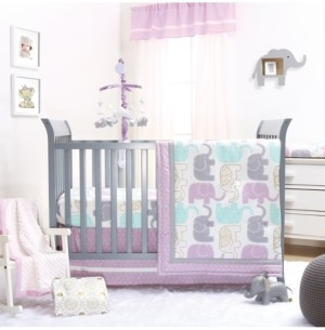 The Peanut Shell The Little Peanut Lilac 4-Piece Crib Bedding Set Bedding