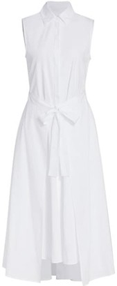 Rosetta Getty Sleeveless Apron Wrap Cotton Shirtdress