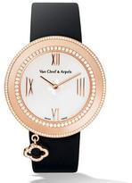Van Cleef & Arpels Pink Gold Charms Watch with Diamonds, 38mm