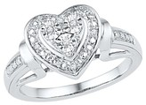 1/20 CT. T.W. Round Diamond Miracle Set Heart Ring in Sterling Silver