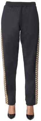 Moschino Contrast Jacquard Side Band Joggers