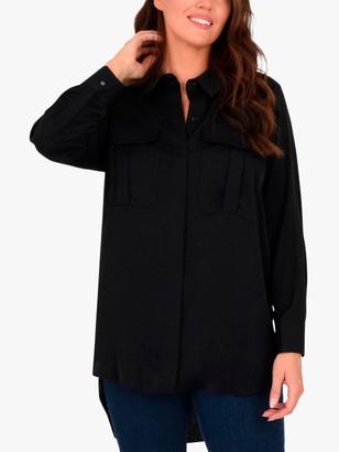 Live Unlimited Curve Military Pocket Shirt, Black