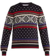 MSGM Snowflake-intarsia wool-blend knit sweater