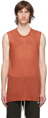 Rick Owens Orange Basic Tank Top