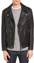 BOSS ORANGE Men's Jaggson Leather Biker Jacket