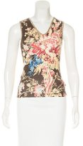Just Cavalli Sleeveless Printed Top