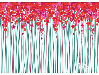 Bob Mackie Flatweave Red/Turquoise Rug