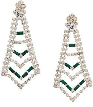 Susan Caplan Vintage crystal drop statement clip-on earrings