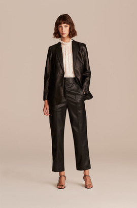 Rebecca Taylor Vegan Leather Stovepipe Pant
